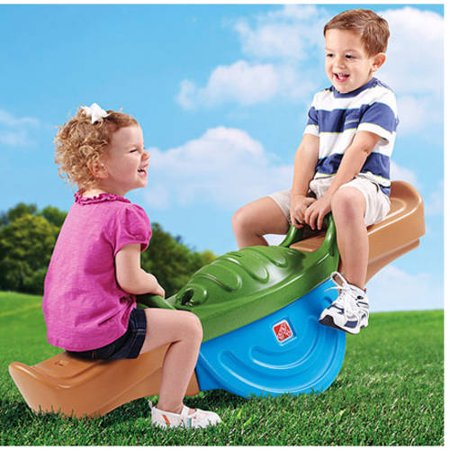 Step2 Play Up Teeter Totter, New Modern Look, Features Two Side Contoured Seats with Easy Grip Handle Bars