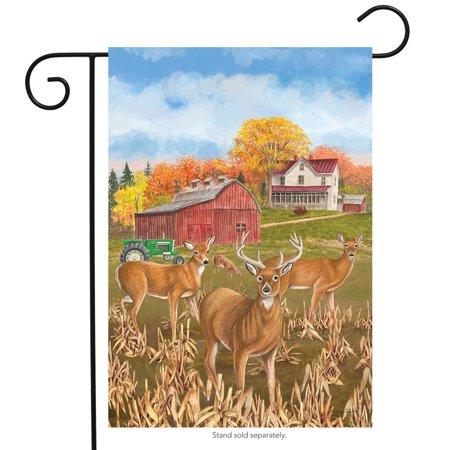 Fall Deer Garden Flag Countryside Farmhouse Meadow 12.5
