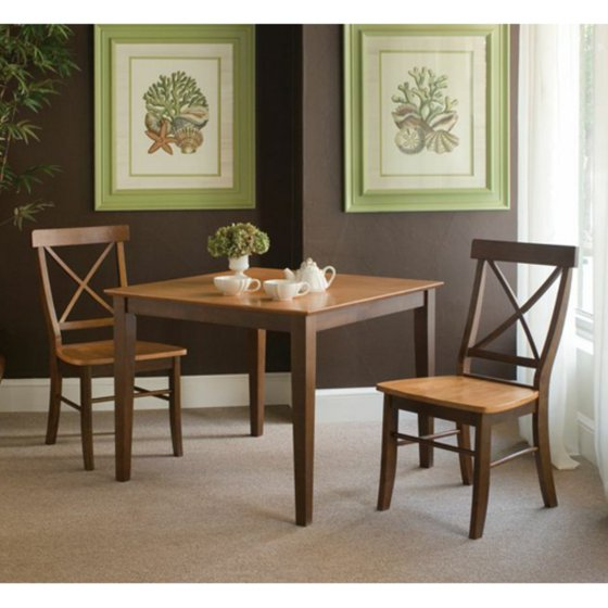36 X Dining Table With 2 Back Chairs