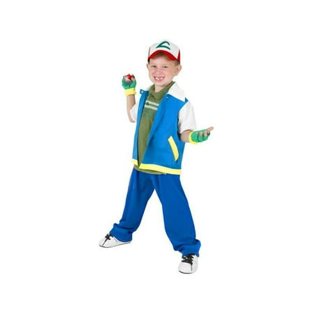 Child Ash Animal Collector Costume - Ash Pokemon Trainer Costume