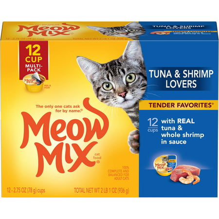 Meow Mix Tender Favorites With Real Tuna & Whole Shrimp in Sauce, (Best Fast Food Tuna Sandwich)