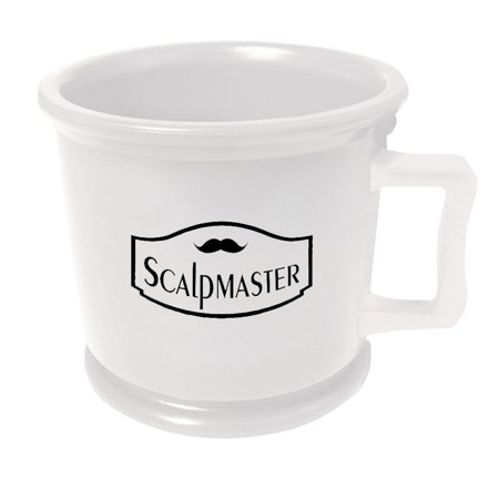 ScalpMaster Professional Barber Shaving Soap Lathering Mug, WHITE, MUG-WHT
