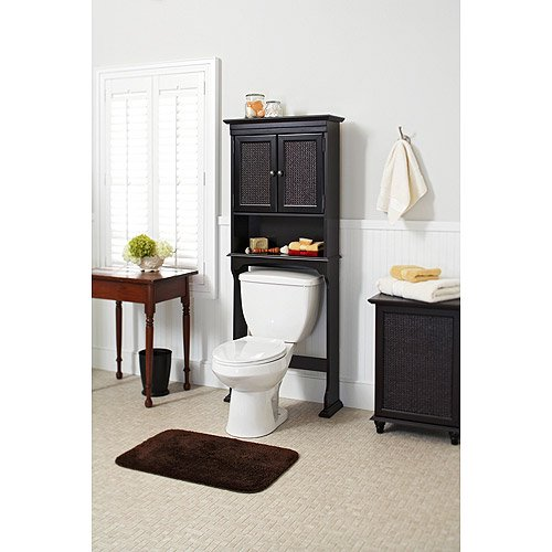 better homes and gardens classic caning over the toilet space saver espresso walmartcom - Over The Toilet Space Saver