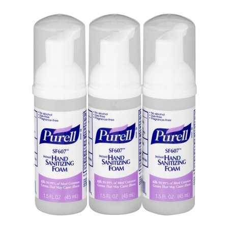 Purell Instant Hand Sanitizer Spring ((Pack of 3) PURELL® Instant Alcohol-Free Foam Hand Sanitizer, 1.5)