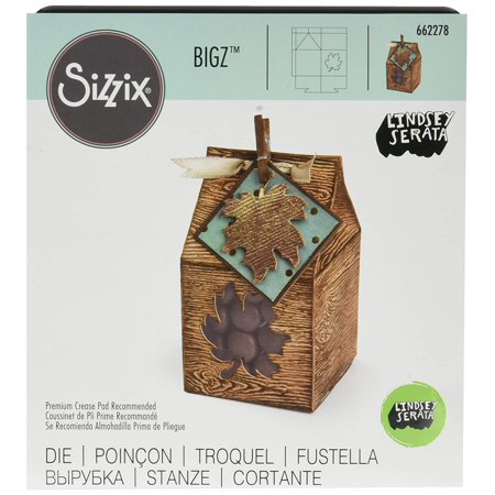 Bigz Die - 662278 Mini Leaf Box by Lindsey Serata, With steel-rule construction, a bigz die cleanly cuts thick materials By Sizzix