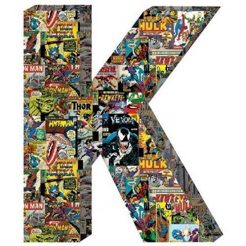 Marvel Retro Comics Wood Letter 'K'