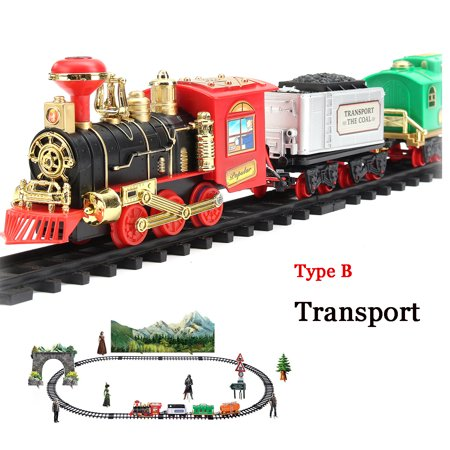 Rc Remote Control Electric Train Set With Real Smoke, Music, and Lights Battery Operated Railway RC Train and Accessories For Kid Children Baby Toy Gift Hobby for $<!---->