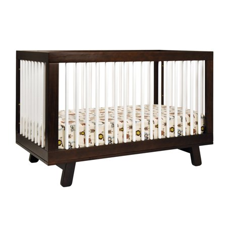 babyletto hudson 3 in 1 convertible crib with toddler rail espresso white. Black Bedroom Furniture Sets. Home Design Ideas