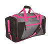 Protege 22  Sport Duffel, Gray with Pink