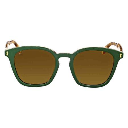 Gucci GG0125S 005 Green Square Sunglasses