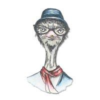 Sizzix Framelits Dies - Hipster Ostrich by Tim Holtz