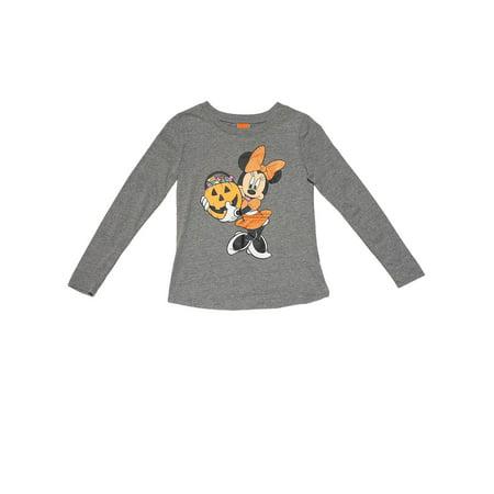 Photos Disney Halloween (Disney Minnie Mouse Big Plus Halloween Pumpkin Long Sleeve Shirt (Big)