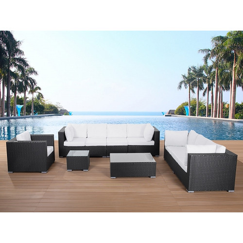 Beliani Deep Seating Outdoor Lounge Set with Cushions