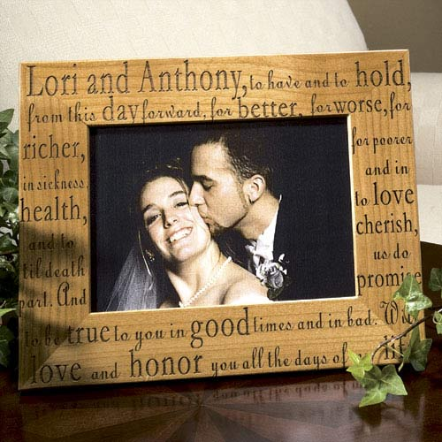 personalized wedding vows frame