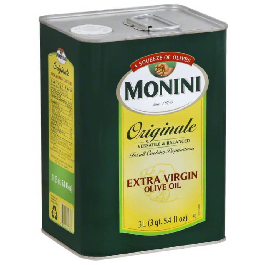 Monini Originale Extra Virgin Olive Oil, 3 l, (Pack of 4)