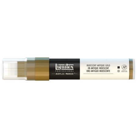 Liquitex Paint Marker, Wide, 15mm Nib, Iridescent Antique Gold