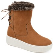 Womens Faux Fur Trim Winter Boot