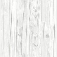 InHome White Barnwood Peel & Stick Wallpaper