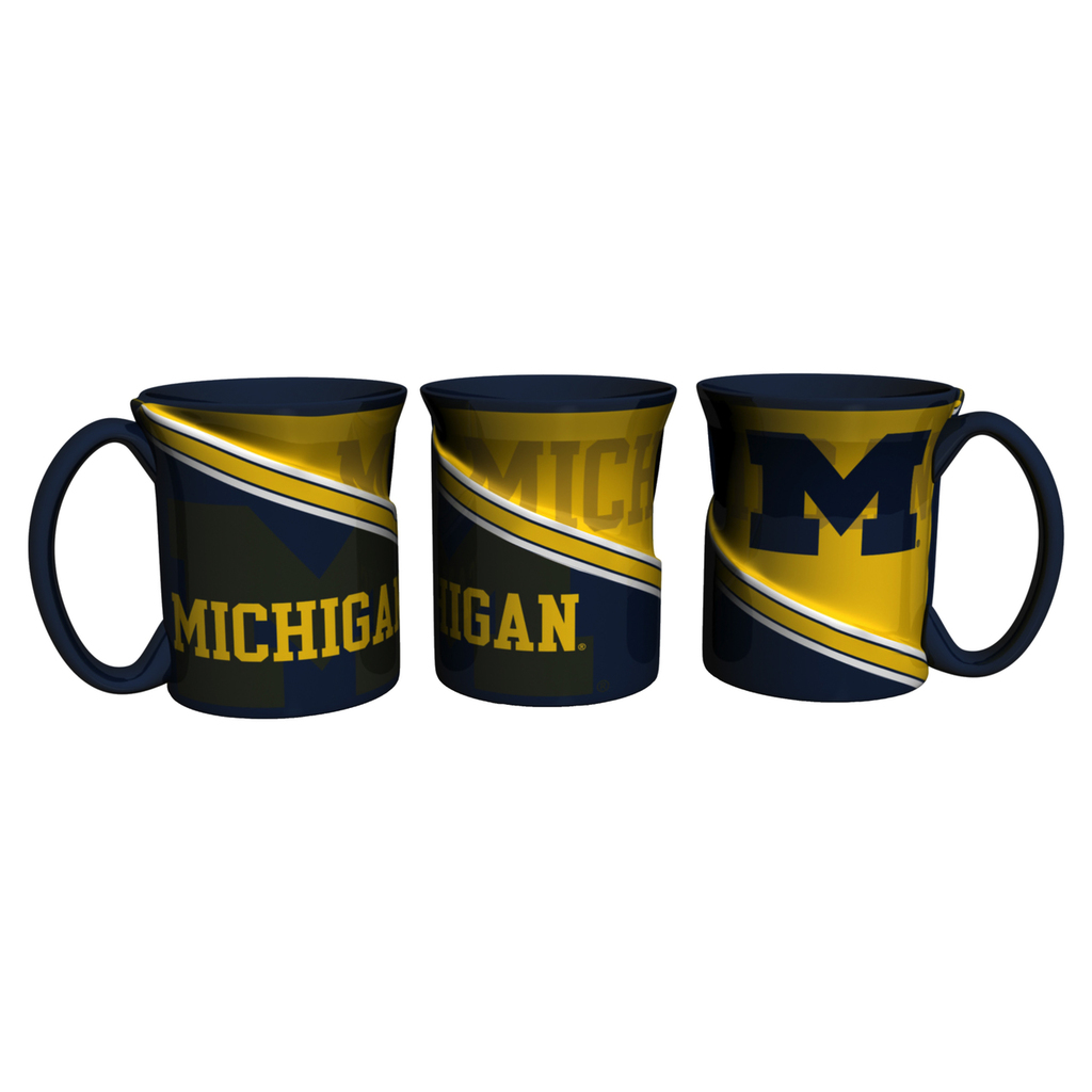Michigan Wolverines Coffee Mug 18oz Twist Style