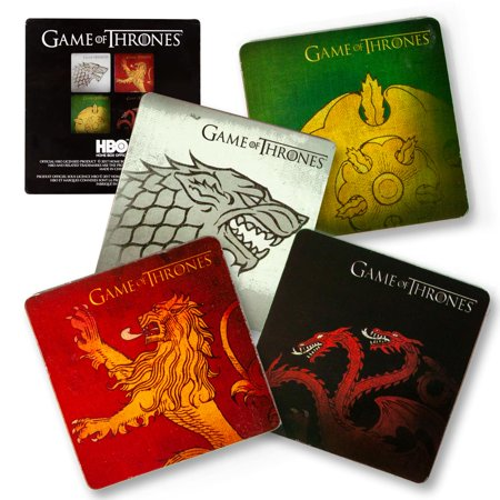 Game Of Thrones Coasters | Nerd Block Exclusive Drink Coaster Pads | Set of 4 (Game Coasters)