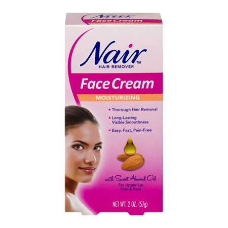 Moisturizing Hair Remover - Nair Hair Remover Face Cream Moisturizing for Upper Lip Chin & Face 2 oz (6PK)