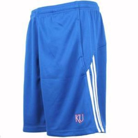 (Kansas Jayhawks Adidas 3 Stripe Team Short)