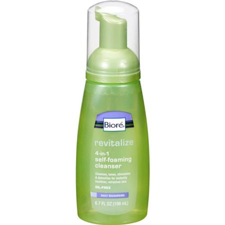 Kao Biore  Revitalize 4-in-1 Self-Foaming Cleanser, 6.7 oz