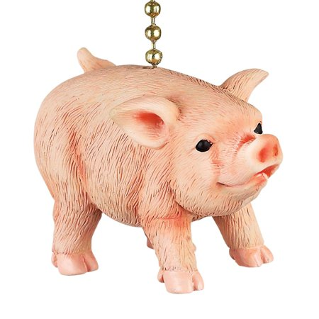 Farmers Pig Decorative Ceiling Fan Light Dimensional Pull