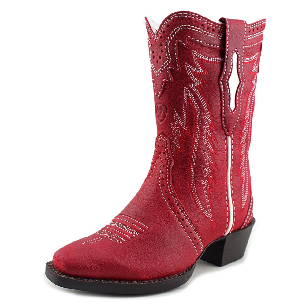 Ariat Calamity Youth Square Toe Leather Red Western Boot by Ariat