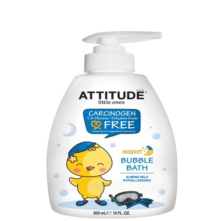 Attitude Little Ones Night Bubble Bath, Almond Milk, 10 Fl Oz