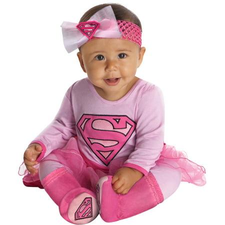 Pink Supergirl Infant Halloween Costume (Supergirl Infant Girls Onsie Halloween)