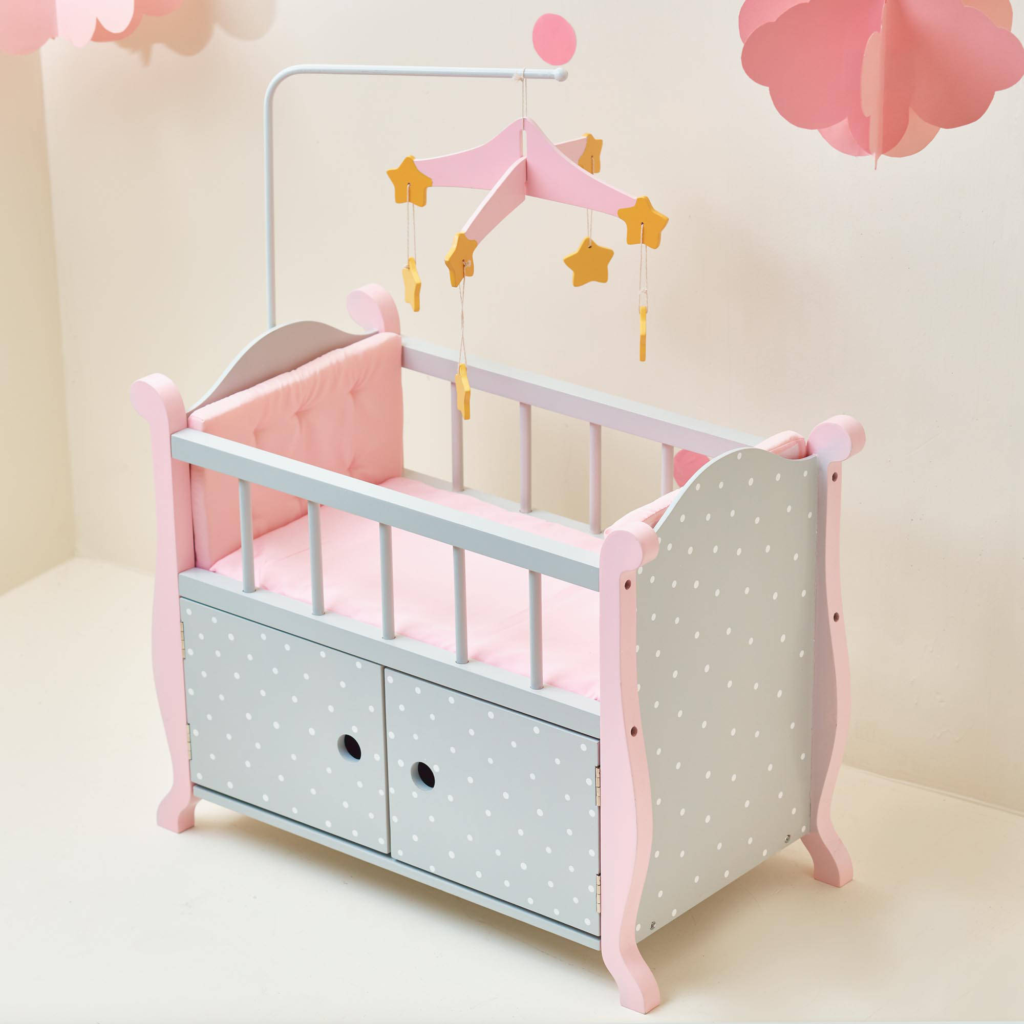 Olivia s Little World Baby Doll Furniture Nursery Crib Bed with