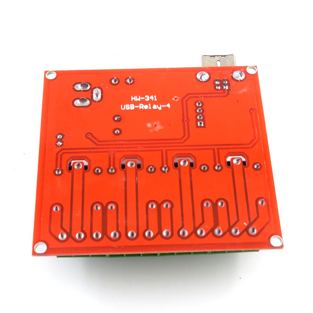 HW-341 4 Channel DC 12V Computer USB Control Switch Drive-free Relay Module