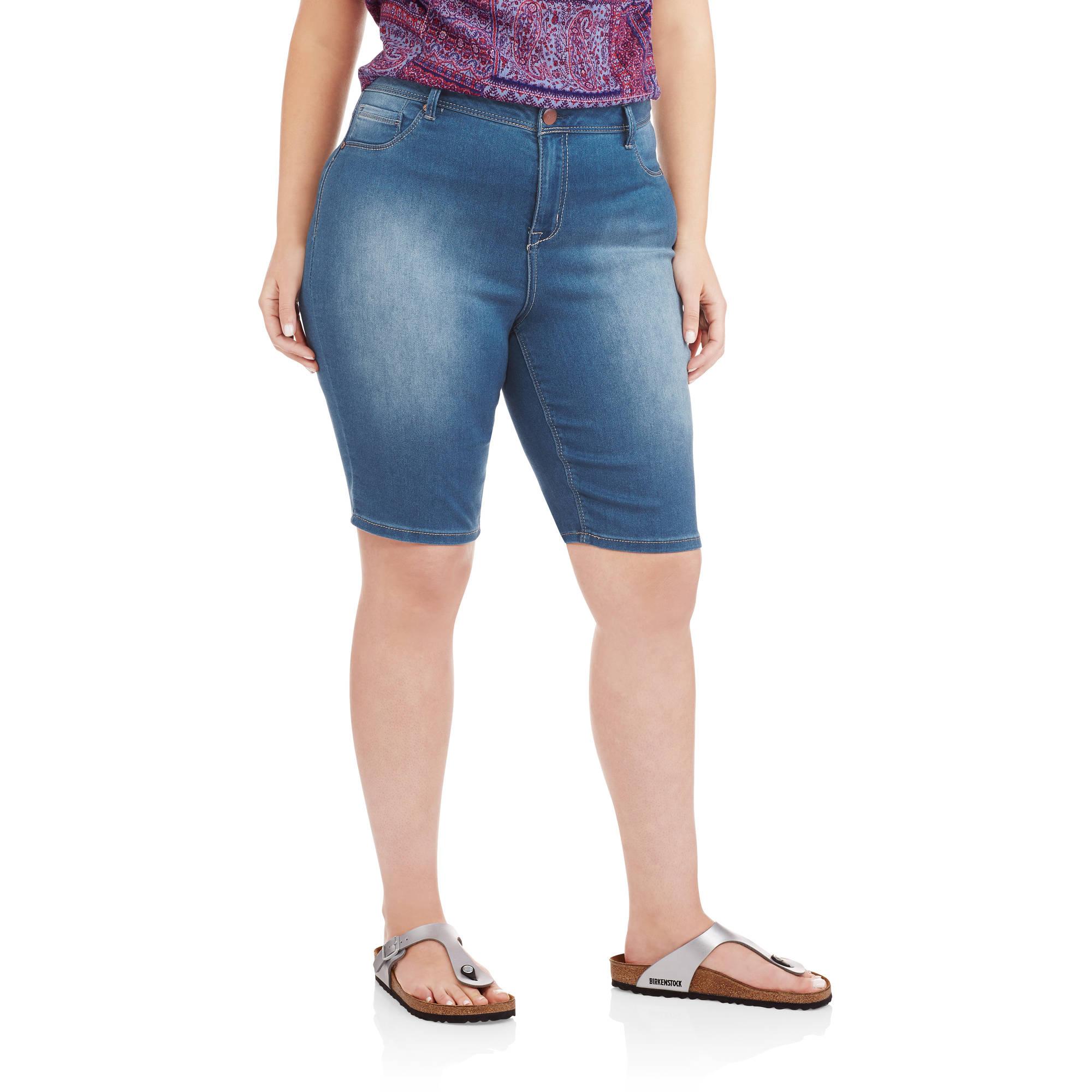 Women's Plus Skinny Stretch Bermuda Shorts