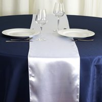 """BalsaCircle 12"""" x 108"""" Satin Table Top Runner - Wedding Party Reception Linens Dinner Event Decorations"""