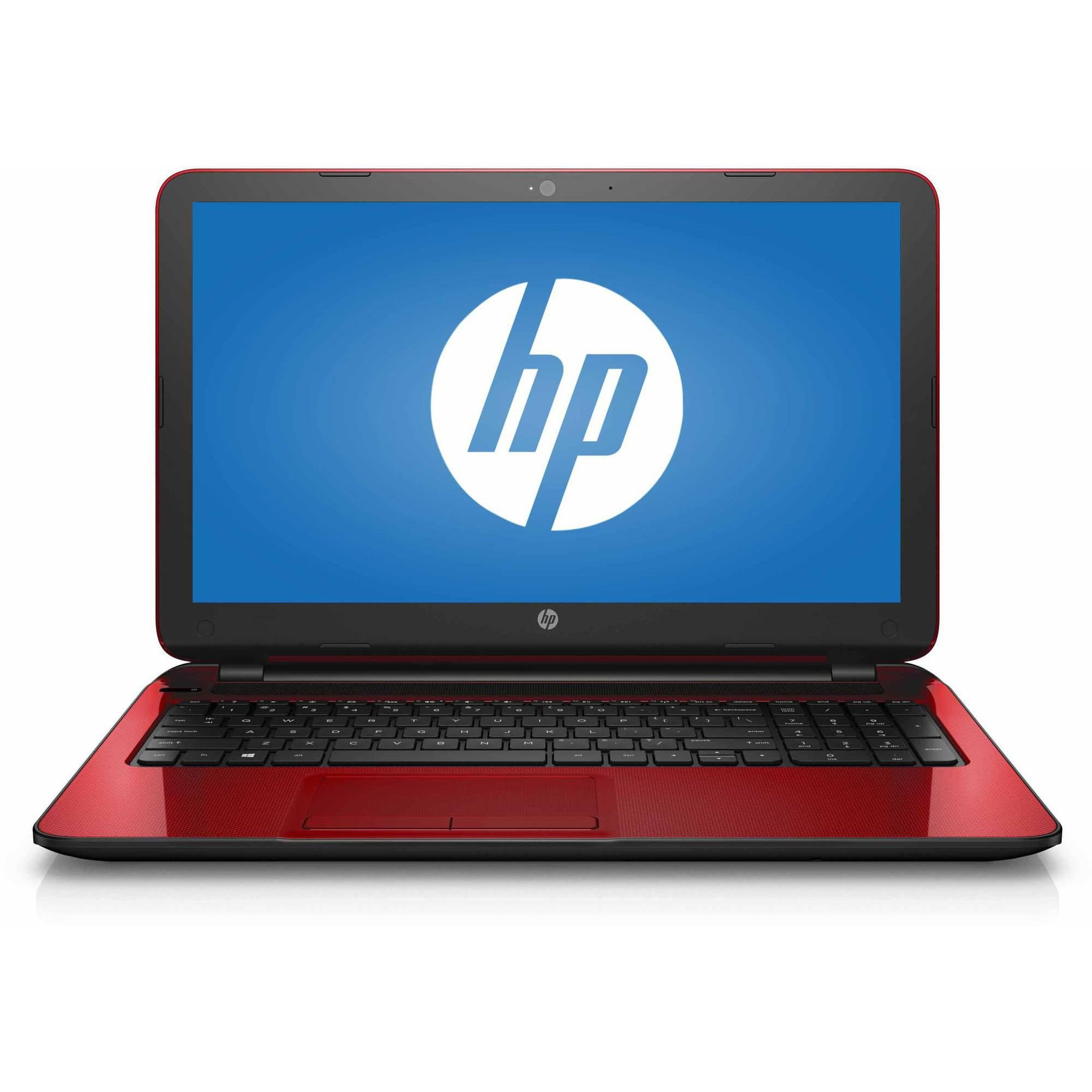 "New Flagship Premium High Performance HP Laptop PC 15.6"" HD BrightView WLED-Backlit Display Intel Pentium N3540 Quad-Core Processor 4GB RAM 500GB Hard Drive HDMI DVD-RW WIFI Windows 10-Red"
