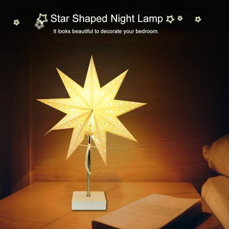 Star Shaped Night Lamp Table Desk