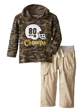 Kids Headquarters Infant Boys 2P Football Champ Thermal Camo Hoodie & Pants