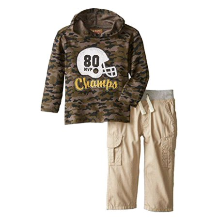 da350d95a84b KIDS HEADQUARTERS - Kids Headquarters Infant Boys 2P Football Champ Thermal  Camo Hoodie   Pants - Walmart.com
