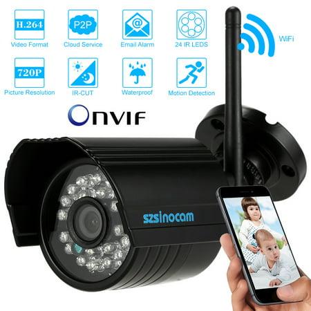 szsinocam Waterproof 720P Wireless Wifi IP Camera CCTV Home Security ONVIF  Surveillance