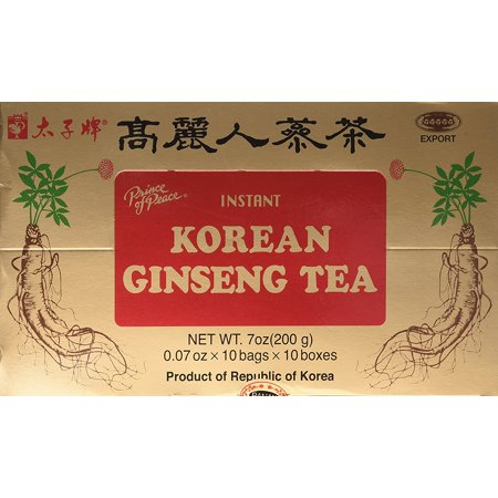Instant Korean Panax Ginseng - Prince of Peace ( Instant ) Korean Ginseng Tea 100 Counts Pack