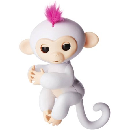 Fingerlings Interactive Baby Monkey Sophie White With