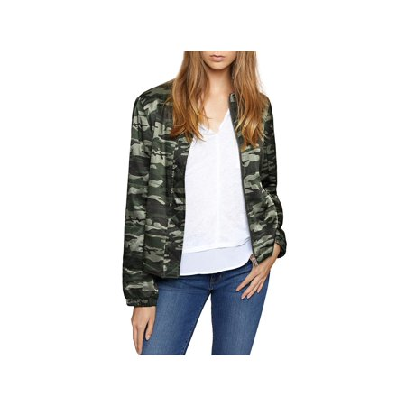- Sanctuary Womens All You Need Is Me Camo Lightweight Bomber Jacket