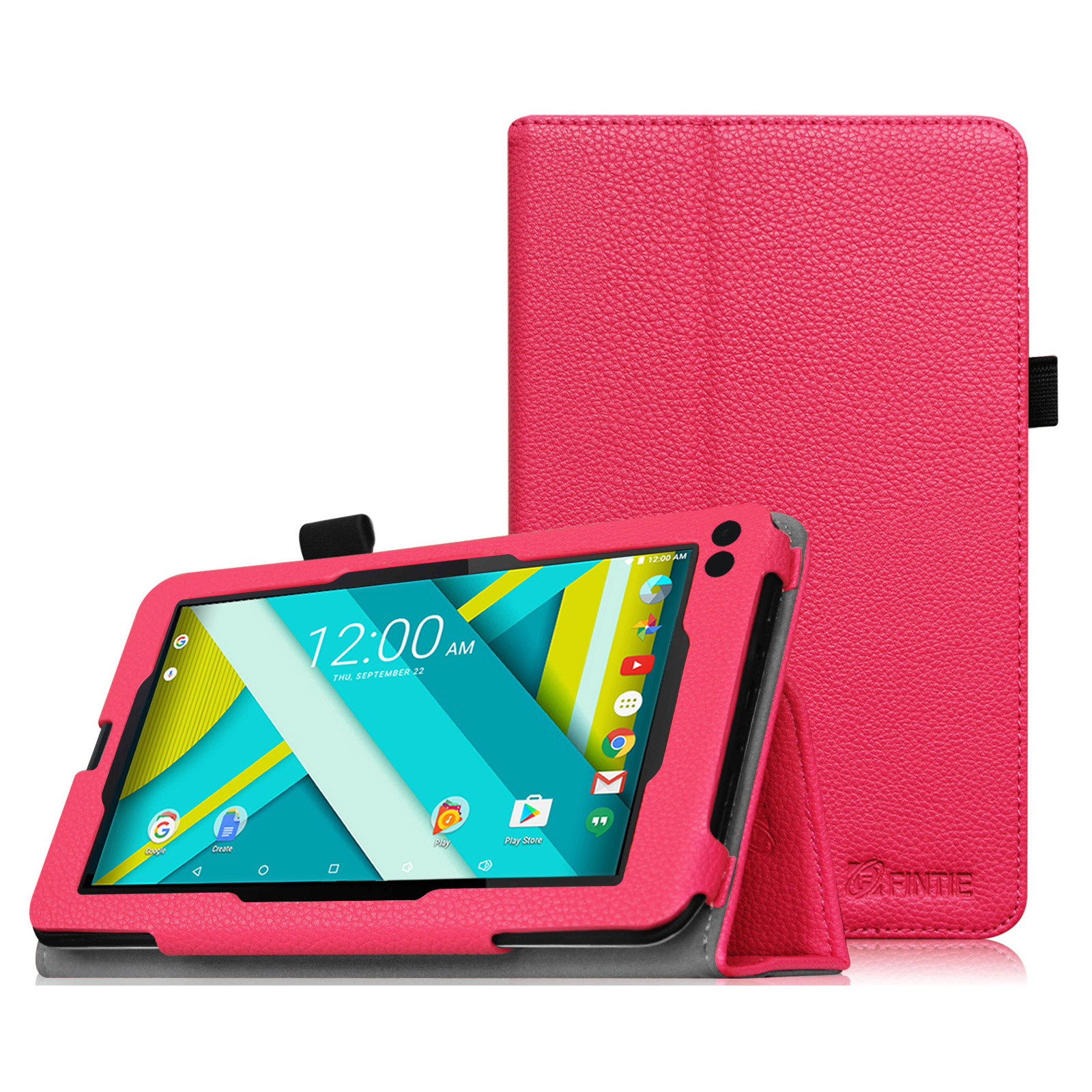 """RCA Voyager III / RCA Voyager II / RCA 7"""" Tablet Case - Fintie Premium Vegan Leather Cover with Stylus Holder"""