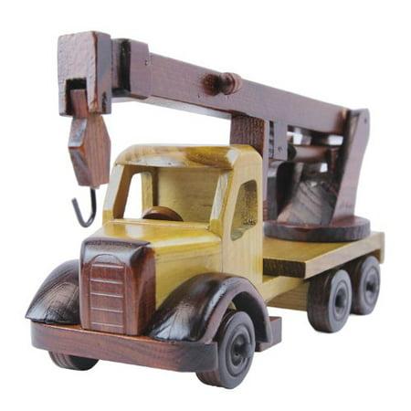 Tow Truck Wood Model Car