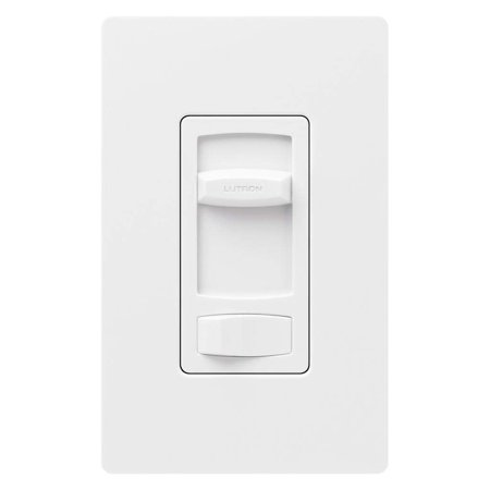 Slide Fan Support - CTFSQ-F-WH CT 1.5A QUIET FAN SPEED Electrical Distribution Product White, Captive slide knob provides 3 speeds for fan, and rocker switch turns fan onto.., By Lutron