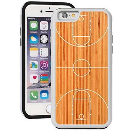 For Apple iPhone Shockproof Impact Hard Soft Case Cover Basketball Court (White for iPhone 5/5s) Soft Court Accessories