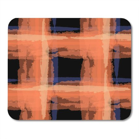 SIDONKU Black Tartan Grunge with Hand Crossing Brush Strokes for Linen Sportswear Rustic Check Plaid Scottish Mousepad Mouse Pad Mouse Mat 9x10 inch