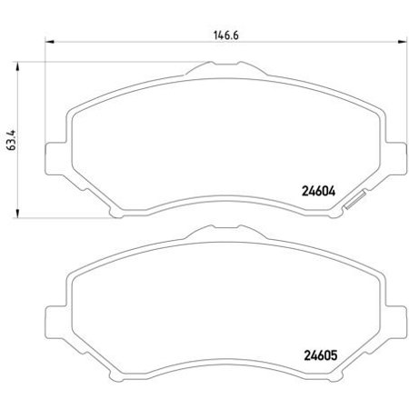 Go-Parts OE Replacement for 2009-2011 Chrysler Town & Country Front Disc Brake Pad Set for Chrysler Town & Country (Base / LX / Limited / SE / Touring L) (Touring Bases)
