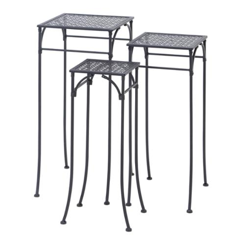 Studio 350 24-inch Metal Sqaure Plant Stand (Set of 3) by Overstock